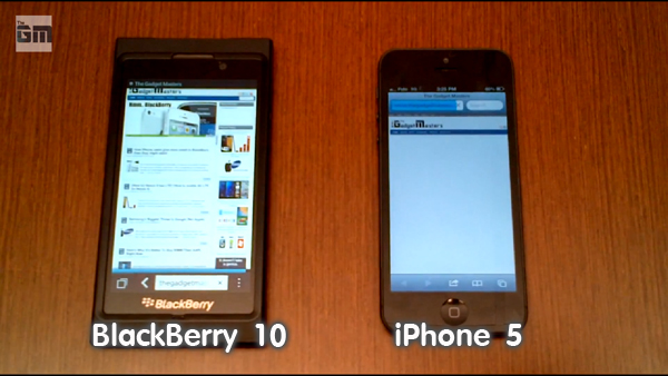 Browser BlackBerry 10 VS iPhone5