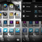ภาพ New BlackBerry 10 UI และหน้าตา Twitter, Facebook, Foursquare