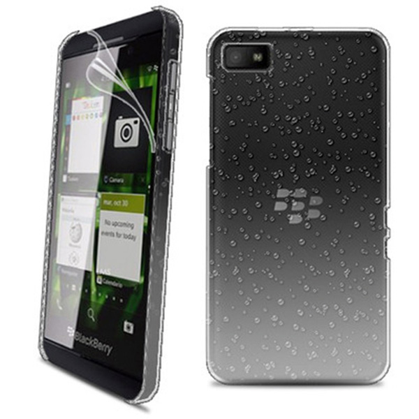 3D-RAIN-DROP-DESIGN-HARD-CASE-COVER-For-BlackBerry-Z10-BB-10-+-Film