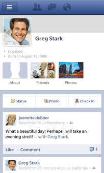 FaceBook For BlackBerry 10 (1)
