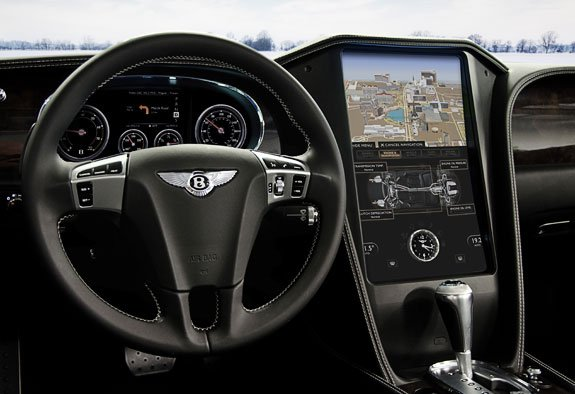 QNX_concept_car_Bentley_center_stack_virtual_mechanic_nav