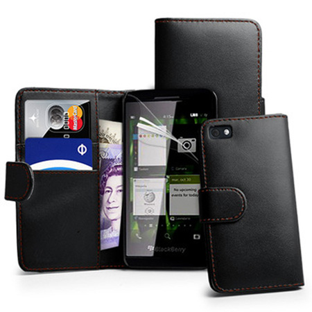 Wallet-Leather-Case-Cover-For-BlackBerry-Z10-BB-10-+-Screen-Protector