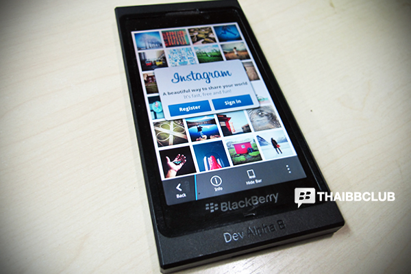 Instagram BlackBerry 10